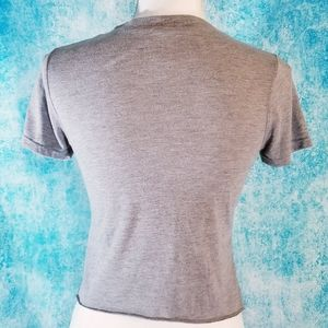 Modern Lux Tops - NOPE Heather Grey Crop Top Tee By Modern Lux